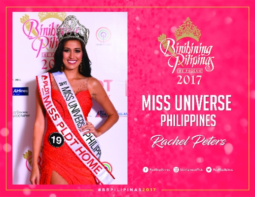 Miss Universe Philippines 2017 - Rachel Peters. courtesy: Bb Pilipinas Official Website