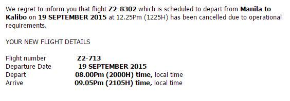 Email perubahan jadwal penerbangan Air Asia - Wira Asmo