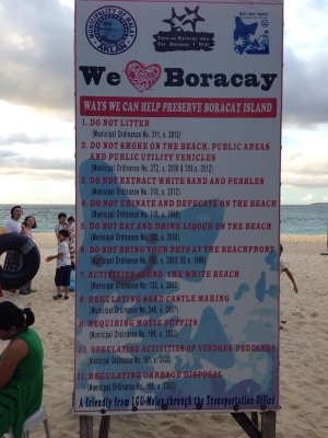 no littering in boracay