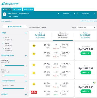 Pilihan Maskapai Naik Pesawat Wisata ke Bangkok - Wira Asmo