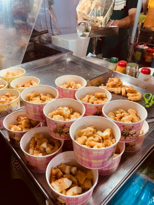 Deep Fried Octopus in Raohe Street Night Market - Wira Asmo