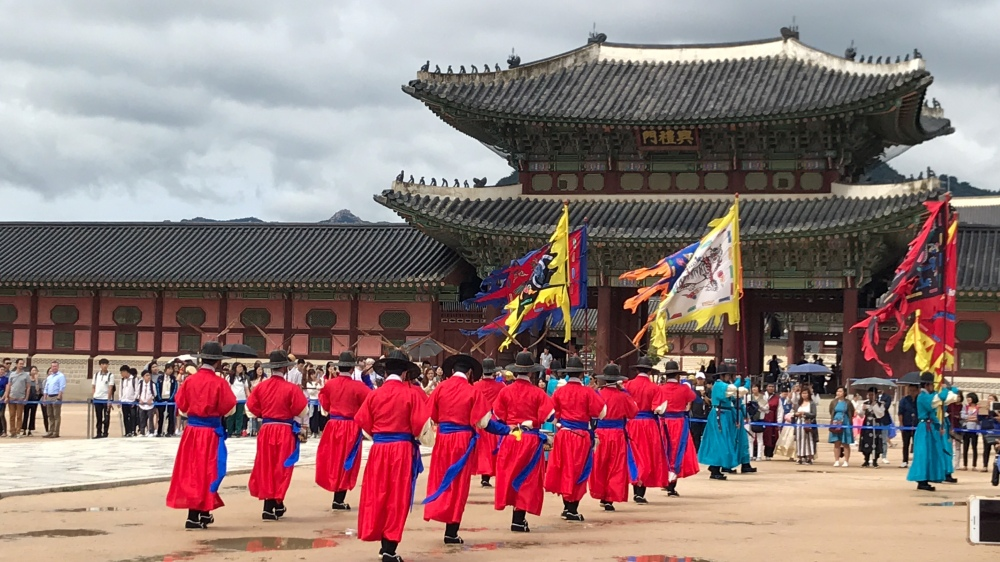 Prosesi Pergantian Penjaga Istana - Changing of the Royal Guard at Gyeongbokgung Palace