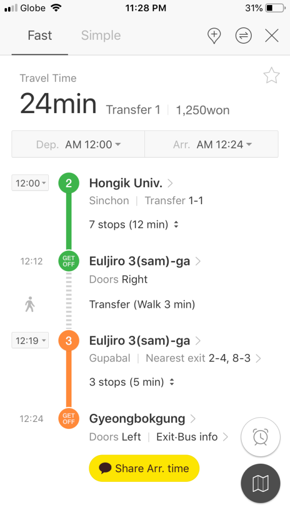 Kakao Metro - Aplikasi Informasi Subway dan Kereta di Korea Selatan