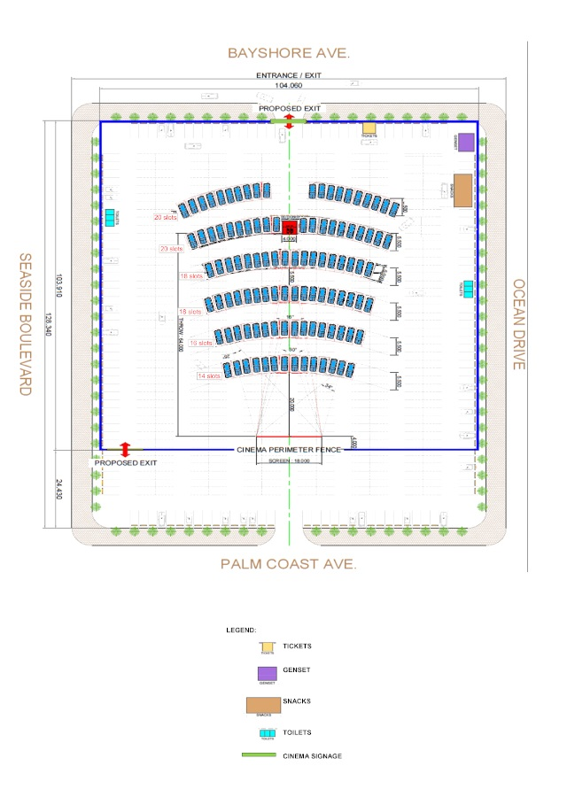 SM Drive-in Cinema Seat Plan